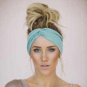 Mint Twisted Turban Headband
